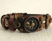 407 Steampunk Sundial Burning Man Assemblage Industrial Bracelet