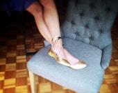 Balerinas Veganas - Flats de piel sintética - pulsera al tobillo - Mina Shoes