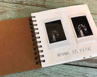 Bridal Shower Hand-Stamped Custom Photo Guestbook