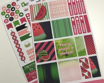 Watermelon Collection - Mini Happy Planner Kit - Planner Stickers - Happy Planner