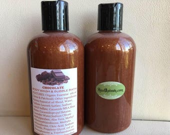 CHOCOLATE-Body Wash & Bubble Bath-Handmade, SPA UPTOWN Bath and Body, Lush alike