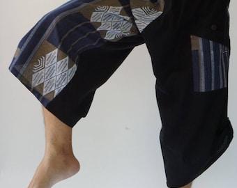 HC0559 Samurai Pants Harem pants have fisherman pants style wrap around waist