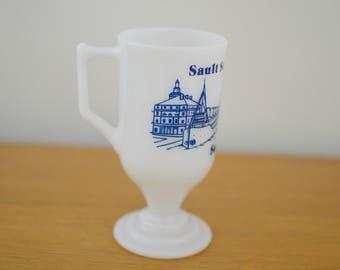Sault Ste. Marie, Mich Soo Locks Milk Mug