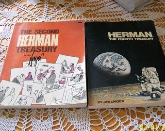 Herman Treasury books The Fourth and The Second by Jim Unger cartoon illustrated