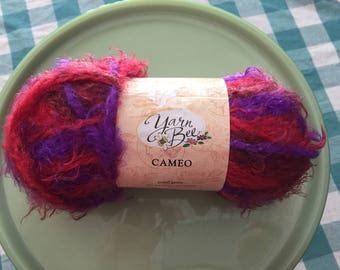 Purple and Red Yarn, Yarn Bee, Cameo Yarn, Royal Gems, Yarn Destash