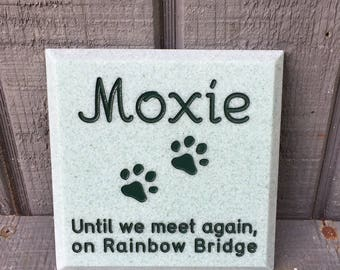 Mini Memorial for Your Pet Custom Engraved Pet Headstone for Dog or Cat Grave Marker Cemetery Stone