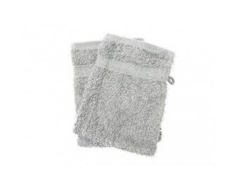 Cotton washcloth towel gray Pearl