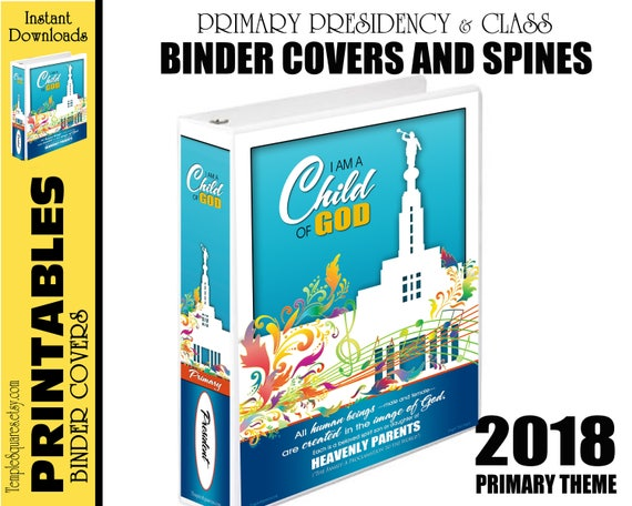 2018 Primary Printable Binder Covers for Presidency and