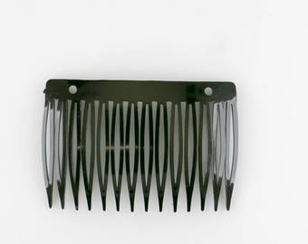 90x53 Comb with 2 holes in black 1Pcs (K1678_sch)
