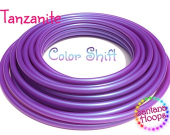 "5/8"" UV Tanzanite Color Shifting Polypro Hula Hoop color shift morph"