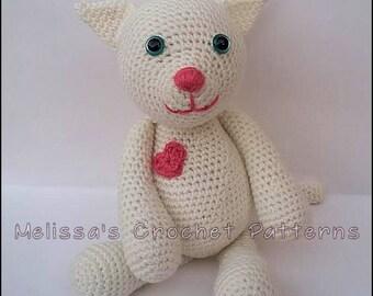 Crochet Pattern - Pearl the White Kitten