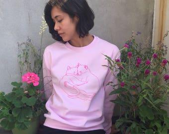 Cozy cat crewneck - Cat sweater - Lovestruck prints
