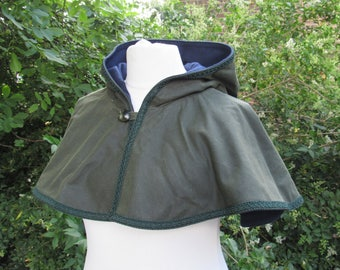 Waxed Cotton Hood and Mantle