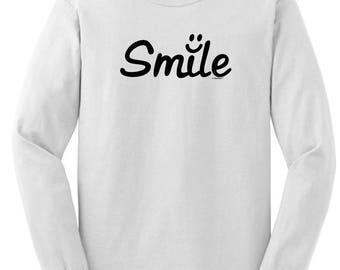 Inspirational Positive Message Great Gift Idea Smile Long Sleeve T-Shirt 2400 - RT-320