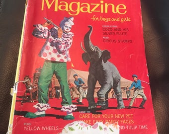 Vintage Golden Magazine. Coc the clown, walt disney