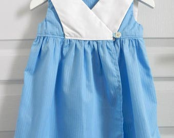 Wrap blue white sailor collar - 3 years girl dress