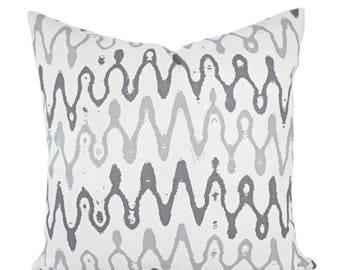 15% OFF SALE Two Sofa Pillow Covers - Purple Pillow Cover - Grey Throw Pillow - Purple Decorative Pillow Cover - Purple Chevron Pillow - Acc