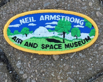 Neil Armstrong Air and Space Museum Washington DC Souvenir Travel Patch