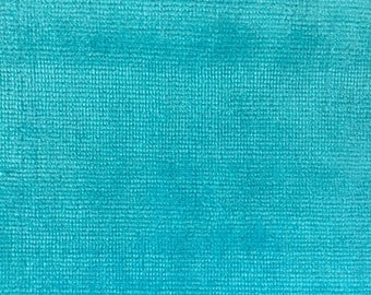 Low Pile Turquoise Terry Fabric - 2 yards