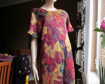 Vintage Escada tunic top.Multi-colour, floral print jersey tunic.