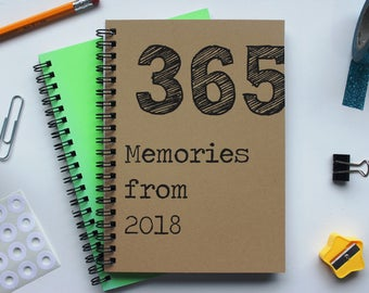365 Memories from 2018 - 5 x 7 journal