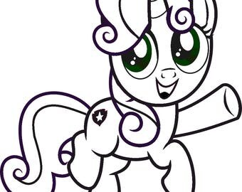 Sweetie Belle MLP Vinyl Decal in Any Size or Color