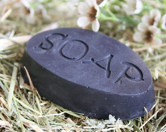 Odd Polly's active charcoal soap, detox, with goat's milk about 50 gr. Black Soap