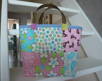 """""""Sweets"""" patchwork squares fabric cotton bag"""