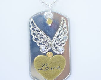 Love Riveted Dog Tag Necklace