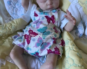 "14"" frilly butterfly dungarees"
