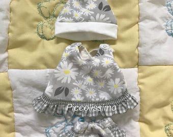 "7"" pinafore dress set"