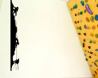 Climbers Climbing Men Wall Window Stickers Decals Fun Kids Decor Vinyl A129