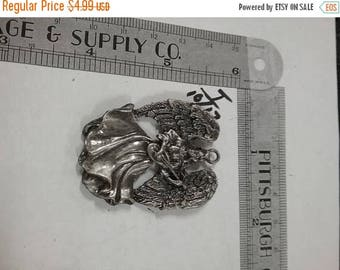 10% OFF 3 day sale Vintage  used pewter angel pendant