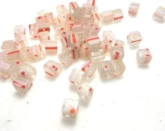 70 millefiori beads, 6x6 mm (1601)