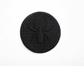 3D Black Spider Patch, Embroidered, Sew on Patch, Spider Patch, Black patch, fashion patch, Jacket Patch, Cool Patch, Patchgame, Patch game