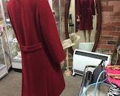 Red Vintage Wool Coat...