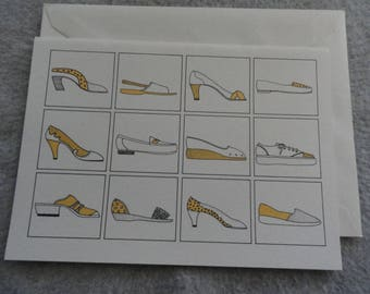 Different Style Shoes - Blank Greeting Card - Free Shipping