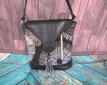 Black and Tan shoulder bag