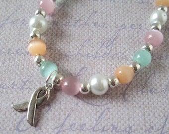 Women's Cancer Awareness Bracelet