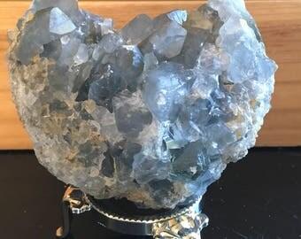 Celestite Crystal Cluster, Geode Specimen, Angel Stone,Spiritual Stone, Healing Stone, Healing Crystal, Chakra