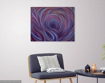 Purple Mermaid Painting, Purple art, Original abstract oil painting, Mermaid art, Canvas art, mermaids, pink blue purple violet Abstract art
