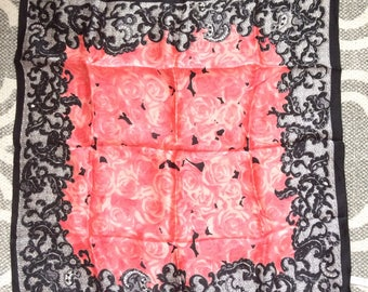 Vintage floral silk square from china