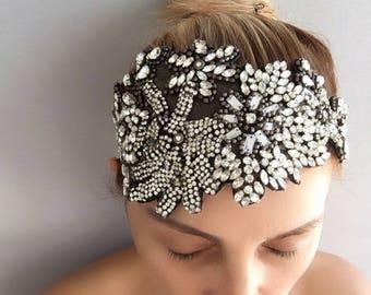 Bridal Headband, Wedding headband, Rhinestone Headband, hair jewelry, brides accessories, gift for her
