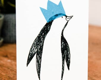 King Penguin Christmas card