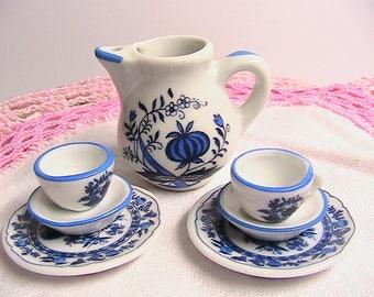 Reutter Germany Mini Porcelain Tea Pot Set, Miniature Tea Set, As-Is