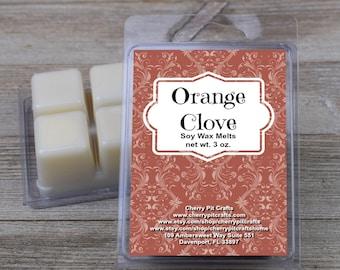 Orange Clove Soy Wax Melts - Handmade Soy Wax Melts