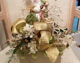 Christmas decorated box