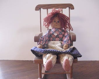 "Vintage Rag Doll, Raggedy Doll, 16"" Rag Doll, Handmade Rag Doll, Cloth Doll, Primitive Rag Doll, Soft Sculpture Doll, Soft Doll"