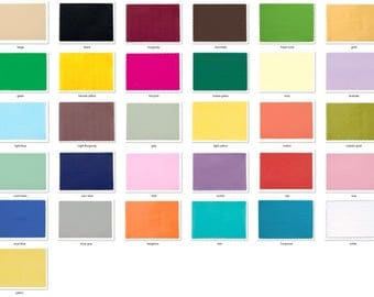 """Mixed Colors 50 Paper Placemats scalloped edge 9.75"""" x 13.75"""" dinner size assorted 5 colors"""