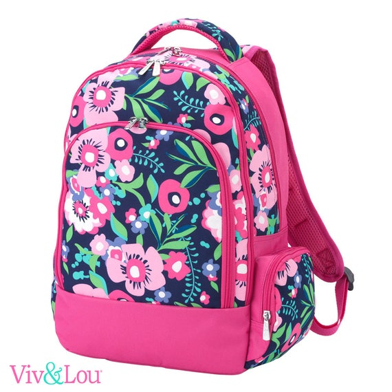 Posey backpack parker paisley bookbag embroidered bookbag paisley backpack back to school girls backpack monogrammed backpack